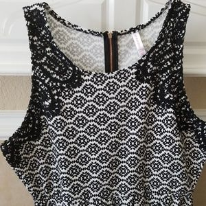 NWOT Black Lace Overlay Fit & Flare Dress